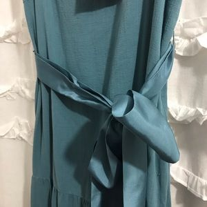 Anthropologie Dresses - Anthropologie Maeve Turquoise Maxi Dress (FIRM)